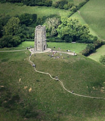 Aerial view of St Michaels Tower on Glastonbury Tor (John D F) Tags: glastonbury tor somerset tower hill tourism aerial aerialphotography aerialimage aerialphotograph aerialimagesuk aerialview droneview britainfromabove britainfromtheair