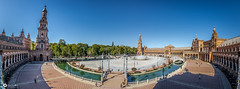 Panorama Plaza de Espana - Sevilla (Corentin Louis) Tags: nikontop nikonphotographers nikon nikond5100 nikonfrance nikonphotography nikonowners nikkor nikonfr nikonespana tokina tokina1116 tokina116 1116 uga ultagrandangle ultra ultrawideangle grandangle wideangle panorama panoramic panoramique view sky espana espagne europe world monde andalousie landscape weekend travel amazing plaza plazadeespana beginner beginners beautiful amateur automne blue