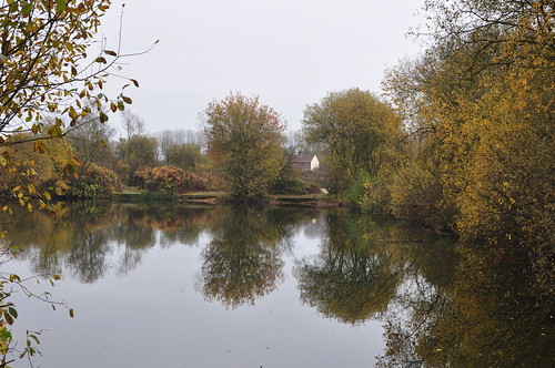 Autumnal reflections at Broome Pits