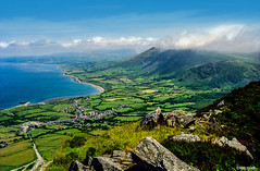 Overlooking Trefor, North Wales (Robert J Heath) Tags: wales snowdonia uk landscape grassland mountains hills peaks water sea coast lleyn peninsula
