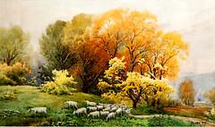 Jang Sung Hwan (nokoredstar) Tags: aquarelle peinture coréedunord pyongyang paysage broderie