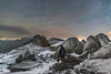 'An Icy Nightscape' - Glyder Fach, Snowdonia (Kristofer Williams) Tags: night sky stars selfie selfportrait nightscape snowdonia glyderfach castlleygwynt castleofthewinds ice snow frost rock mountains astro astrophotography figure wales landscape