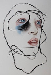 Body container (Rebekka Berthold) Tags: art drawing painting traditional watercolour aquarell abstract realism portrait