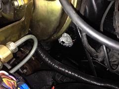 IMG_3318 (john.and.kath) Tags: jrd ls ls2 l76 60l engine conversion 1965 chevrolet impala firewall hole wiring harness plugs