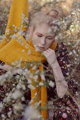 Abandoned Sensations (MartinaMariotti) Tags: martinamariottiph abandonment place flowers orange autmn november blonde model