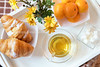 Delicious breakfast in tray (victoria.kondysenko) Tags: chrysanthemum tea tray table temptation floral dessert white spring sweet red beverage flower drink yellow life lay cup breakfast light teatime blossom traditional cozy crockery time lifestyle retro still cake sugar pastry blanket wooden vintage fresh book hot croissant tangerine
