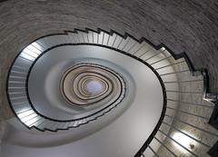 Another staircase (rainerralph) Tags: treppenhaus olympus architektur staircase helix bayern treppe objektivmzuikodigital714pro spirale treppenauge spiral architecture stair omdem5markii oval augsburg bavaria