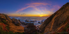 Rock of Ages (philipleemiller) Tags: landsape seascape sunset panoramas pacificcoast d800 california bigsur waves nature