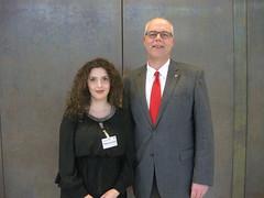 Praktikantin Xhane Fera im Landtag
