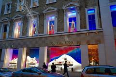 Louis Vuitton Christmas lights, New Bond Street, London, November 2016 (sbally1) Tags: london newbondstreet christmaslights louisvuitton christmas