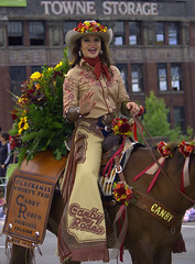 Beautiful Horse Rider (swong95765) Tags: ride equestrian woman female lady cowgirl horse parade flowers smile beauty