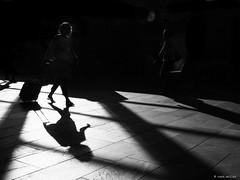 Twenty to six (Ren Mollet) Tags: blackandwhite basel bw bahnhof backlight street streetphotography shadow silhouette station sbb renmollet olympus zuiko clock