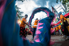 Dancing Dragon (Henry Sudarman) Tags: fujifilm xa1 samyang fisheye 828 samyang8mmf28fisheye indonesia bandung jawabarat westjava culture ritual capgomeh chineseculture budaya bhineka humaninterest people manual lens manuallens