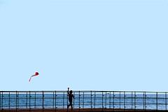 E ruba il filo dalla mano (meghimeg) Tags: 2016 rapallo molo pier mare sea cielo sky controluce backlight bimbo boy aquilone hff