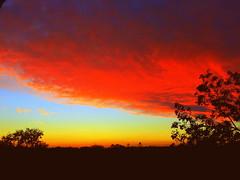 Sunset with Night Curtain (dimaruss34) Tags: newyork brooklyn dmitriyfomenko image sky clouds sunset fall autumn foliage wow