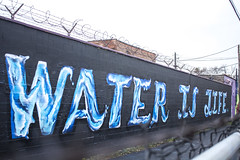 WATER IS LIFE (Rodosaw) Tags: documentation of culture chicago graffiti photography street art subculture lurrkgod water is life nodapl no dapl