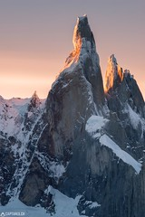 Cerro Torre at the sunset - El Chalten (Captures.ch) Tags: 2016 argentina black blue brown captures cerrotorre clouds december elchalten evening glacier gray ice landscape mountains nature orange perfect red sky snow southamerica sunset travel white yellow ngc