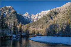 Gold Creek - Dec.06, 2016 (Maclobster) Tags: gold creek golden ears park evans valley peak blanchards needle point snow winter blue sky