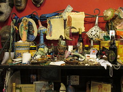 Voodoo Altar (shaire productions) Tags: neworleans witch hex image picture photo photograph supernatural merchandise spells potions imagery occult cult voodoo authentica shop altar magic magical nola alter offerings
