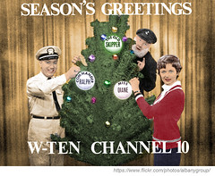 WTEN Christmas (colorized) (albany group archive) Tags: albany ny christmas wten tv 10 miss diane romper room old skipper commander ralph vartigan