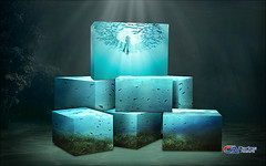 Carlos Atelier2 - Cubos (Carlos Atelier2) Tags: carlos atelier2 fundo do mar peixe azul manipulação design photoshop