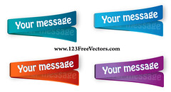 Download multicolored stickers vector (Freevectorzone) Tags: blue red color colour paper sticker message object label tag template