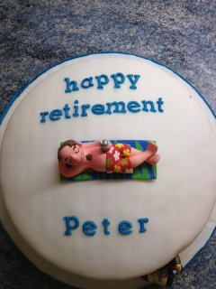 retirement cake peter