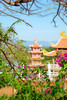 A taste of Vietnam (caity`) Tags: pink sky leaves architecture landscape pagoda asia traditional vietnam xpressus allxpressus