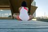 (Schuhbox4) Tags: barcelona summer woman beach girl yoga spain catalonia stretch sittin