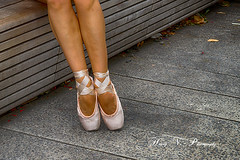 Pretty feet... (Houry Photography -on/off) Tags: ballet ny gardens canon shoes chelsea 7d hanging highline 2013