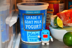 The spirit of yogurt (WindUpDucks) Tags: blue white milk goat domo yogurt qee toy2r