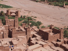 Kasbah-Ait Ben Haddou-Morocco (mikemellinger) Tags: africa trees homes nature beauty buildings landscape town scenery north dry oasis morocco fortress gladiator kasbah aitbenhaddou gameofthrones filminglocation