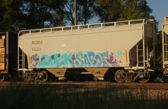 QAEK SABOT (The Braindead) Tags: art minnesota train bench photography graffiti painted tracks minneapolis rail explore beyond the