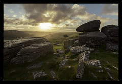 Combestone Sunrise (Explored) (RattyBoots) Tags: sunrise canon 7d tor dartmoor canon1022 exposureblend combestone nakedlens processingexercise