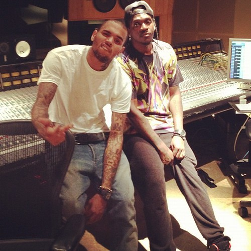 Pusha T & Chris Brown sweet serenade video shoot