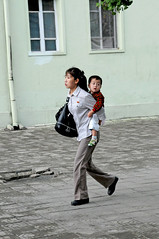 Mother and child in Pyongyang / DPRK (anji) Tags: northkorea dprk democraticpeoplesrepublicofkorea