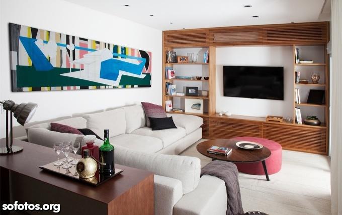 sala de estar planejada e decorada