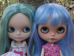 my blue hair girls