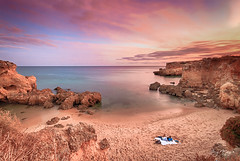 Paradise in Algarve (Jorge Manso) Tags: prdosol algarve albufeira algarvesunset fotonature praiadosarrifes jorgemanso arrifesbeach