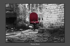 Throne Room (Don Raider 68) Tags: abandoned sc mono scotland chair railways derelict workshops selectivecolour ladybank