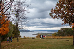 Mississippi River overlook at Frontenac State Park (evilfoo) Tags: fall october mississippiriver frontenac redwing 2013