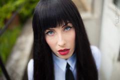 Doris Omerta (EL3 IMAGERY 2014) Tags: blue school red black nerd girl canon hair bedroom eyes long vampire megan lingerie lips fox 5d fangs rokinon 5dmk2