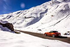 Umbrail Pass (getpalmd) Tags: road trip travel italy mountain snow mountains cars car europe pass roadtrip bmw z4 stelvio