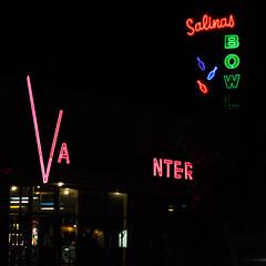 Salinas Bowl (Jeremy Brooks) Tags: california usa neon bowl salinas bowling montereycounty bowlingalley bowlingpin photochallenge 2013challenge