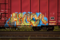 HICKY (TheLost&Found) Tags: urban art minnesota photography graffiti paint painted exploring minneapolis trains explore funk boxcar graff freights hicky thelostandfound
