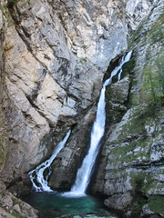 Savica Falls, Slovenia (Paul McClure DC) Tags: people waterfall scenery slovenia geology slovenija bohinj julianalps gorenjska savica radovljica oct2012
