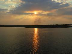 Chobe sunset (Linda DV) Tags: africa travel sunset nature canon river geotagged nationalpark botswana chobe zambezi cuando southernafrica 2013 kwando geomapped lindadevolder powershotsx40
