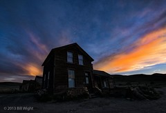 Bodie Ghost Town Sunset (Bill Wight CA) Tags: california park old nightpho