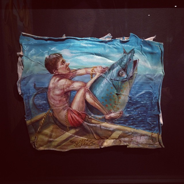 """Un Pez Muy Pesado"" Hugo Salazar • ""Bestiario"" #muestra colectiva #arteenlima #arte #artinlima #art #artistaperuano #artist #artista #peruvianartist"