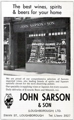 1970 ADVERT - JOHN SARSON AND SON SWAN STREET LOUGHBOROUGH (Midlands Vehicle Photographer.) Tags: street john swan son advert and 1970 loughborough sarson